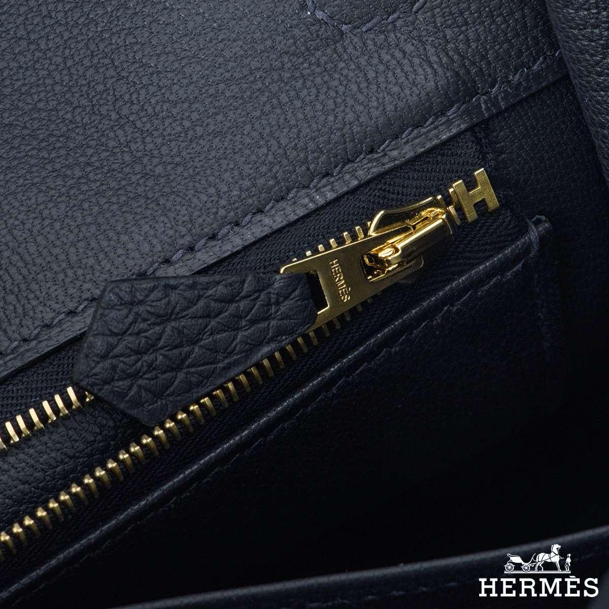 Hermès Bleu Nuit Togo Birkin 25cm Gold Hardware